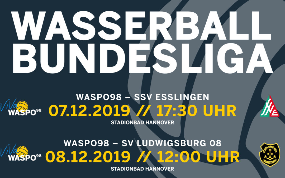 DWL-Doppelspieltag im Stadionbad Hannover – Ludwigsburg und Esslingen kommen